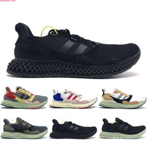 Ultra Boost 4D Sapatos Top Quality KITH Consortium 4D Kith Aspen Runner 4D Sports Mid Branco Sneakers sapatos tamanho 40-45