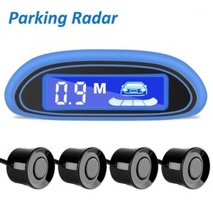 Coche Parktronic Kit 4 Sensores LED Display Detector Security Alertar System Monitor English Voice Alarma Backup Sensor Sensor Radar1
