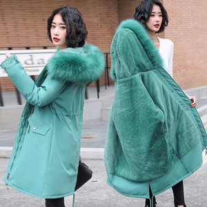 PEONFLY Solid Color Winter Women Jackets Think Pockets Hooded Padded Female Long Down Parkas Novelties Zipper Casul Outerwear