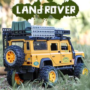 1:28 Alaşım Diecast Oyuncak Araba Modeli Deve Defender Metal Oyuncaklar Araçlar Kupa Çocuk Hediyeler için Ses Işık Koleksiyonu Geri Çekin Q1214