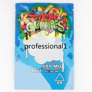 New 500MG Dank Gummies Bag Edibles bags Packaging Worms Edibles Bears Cubes Gummy bags Wholesale