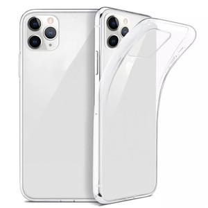 Para iPhone 12 Pro Mane MAX CUBIERTE ULTRA TRANSPARTE TRANSPARTE TPU SOFT TPU TABLE PARA IPHONE 12 MINI XS 8 7 PLUS CASOS