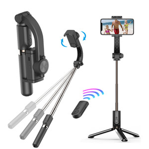 GS30 Handheld Grip Gimbal Stabilizer Tripod Anti-shake Selfie Stick Holder Adjustable Stand Wireless Bluetooth Remote Control for Live Show