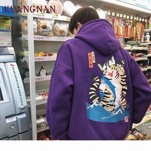 KUANGNAN Harajuku Style Thick Mens Hoodies Japanese Streetwear Men Hoodie Hip Hop Hoodie Men Clothes 2018 Hoody Sweatshirts Y190830