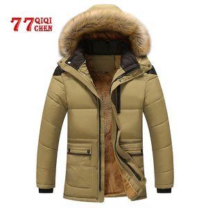 Mens Winter Jackets Parka Casual Thick Warm Mens Jacket Coats Parkas Hombre with Hooded Long Overcoats Male Brand Long Coats 7XL