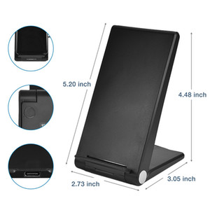 Quick 20W Qi Wireless Folding Vertical Fast Charger Charging Bracket High Power Docking Stand for All Cell Phones