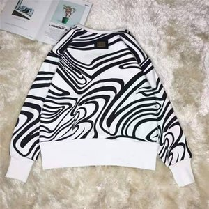 Women Hoodie Striped Style High Quantity Terry Hoodie Letters Printed Sequins Budge Back Shirts Classicl Tops S-L