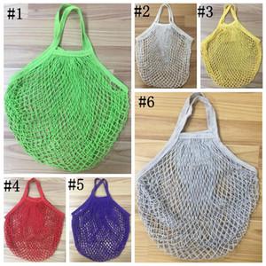 Shopping Grocery Bag Reusable Shopper Tote Fishing Net Large Size Mesh Net Woven Cotton Bags Portable Shopping Bags Home Storage Bag EWC4057