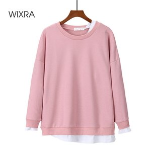 Wixra Women's Basic Sweatshirts Solid Women Classic O Neck Long Sleeve Autumn Spring Casual Pullover Tops LJ201120