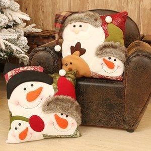 عيد الميلاد وسادة القضية 35 * 35 سنتيمتر غطاء وسادة عيد الميلاد سانتا كلوز سادة 2 تصميم مع وسادة الأساسية زينة عيد الميلاد LLS256