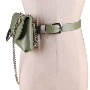 2021 New Spring Summer Leather From the Plutonium Personality Current Bag Two Ways to Use Female Fashion Track Belt Vewy