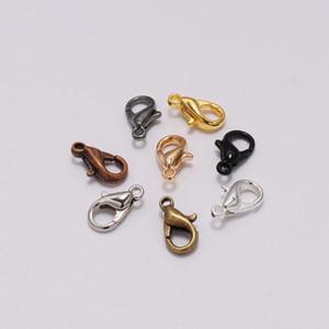 50pcs lot 10*5mm Jewelry Findings Gold Lobster Clasp Hooks For Diy Handmade Necklace Bracelet Chain Wholesale A wmtXvN