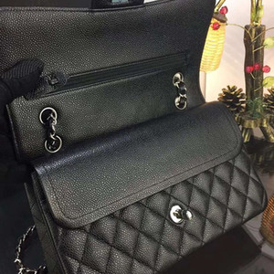 VeraStore Top Quality Caviar Genuine Leather Luxury Handbags Calfskin Women's Bags Designer Shoulder Bag of women Famous Brands Female
