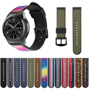 Hot Sell Nylon Watchband for Samsung Gear   Huawei   Fenix Silicone Sports Outdoor Bracelet 20mm 22mm