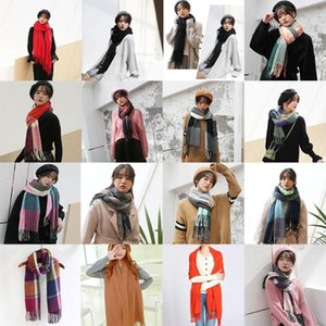 Scarf Plaid Warm Scarf For Women Wool Scarves Casual Fashion Wrap Girl Cashmere Scarfs Blanket Winter Women Hot Shawl E3M5