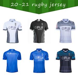 2020 2021 Fiji Home and Away Rugby Jerseys Singlet League Camisa Fiji 7s 2020 2021 Rugby Shirt Plus Size S-5XL