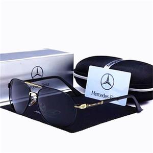 NOUVEAU cadeau de magasin Mercedes Benz 4S avec des lunettes de conduite à la mode Nouvelle encre d'hommes Benz polarisé