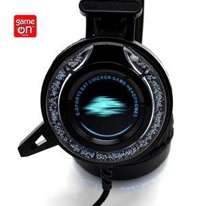 Noise cancelling gaming headset for PS4 Switch Xb one x s pc game earphones with 7 kinds of water luminescence surround stereo headphone