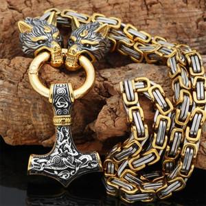 Nordic Celtic Kurt erkek Kolye Viking Kurt Başkanı Paslanmaz Çelik Kolye İskandinav Rune Aksesuarları İskandinav Muska Jewelry1
