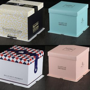 Single Layer Cake Box 6inch 8 Inches Multi Sizes Cakes Packing Case Blue Black Package Organizers New Arrival 4 07ps3 L1