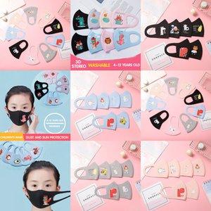 DesignerFace PM2.5 Niños transpirables Niños Anti-Contaminación Mascarillas N K Anti-polvo Dibujos animados Boquilla Tarraop Lavable de algodón reutilizable 95W1