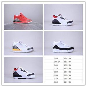 Chaussures de basketball pour enfants classiques J3 Mocha rouge noir Blanc 28-35 Enfants Sneakers Athletic Boys Filles Chaussures de sport pour bébé