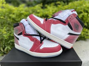 2021 Liberação Alta OG 1 Troféu Quarto Chicago 1s Branco Varsidade Vermelha Vela Vermelha Homens Pretos Mulheres Outdoor Sapatos Esportes Sapatilhas Com Caixa Original
