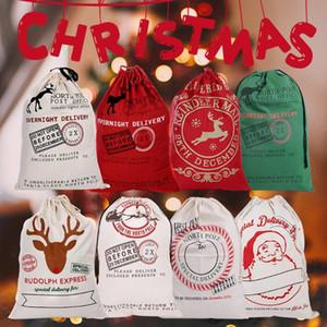 Newest Personal Christmas Sacks Stocking Cotton Xmas Gift Bag Santa Sack Toy Home Decor Christmas Party Gifts Holder Bag