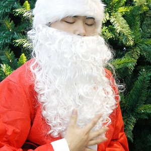 Curly Santa Claus Beard Kid Adult Cosplay Costume Fancy Dress Party Accessory Christmas Decoration Prop Y1125