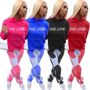 womens sportswear long sleeve outfits shirt pants two piece set shirt tights sport suit pullover pants hot selling klw5664