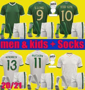 2020 2021 İrlanda Ulusal Takım Futbol Forması 20 21 Duffy McClean Doherty Hendrick Futbol Gömlek Üniformaları Yetişkin Erkekler Setleri Çocuklar Çorap Kitleri