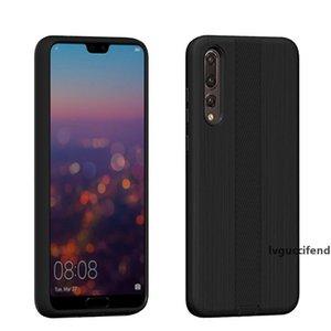 Zırh Hibrid Fırçalı Kılıf Hawei Y6 2018 Için Huawei Y6 2018 PC TPU Telefon Kapak A