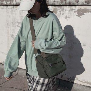 Womens solid color portable canvas bag simple shoulder Bag Casual Messenger bags Shoulder Belt Pack Crossbody Bags Dropship