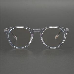 Toptan Yuvarlak Stil Optik Miyopi Grau OV5183 Gözlük Cam Çerçeve Retro Erkekler / Kadın Gözlük óculos Feminino Reading de rbmkd
