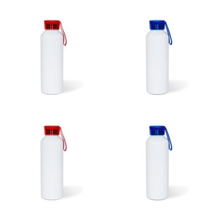 Süblimasyon Boş TTO Hareketli Kettle 750 ml Erkek Kız Renk Silikon Şeffaf Kapak Alüminyum Su Şişeleri DIY 8 36TY J2