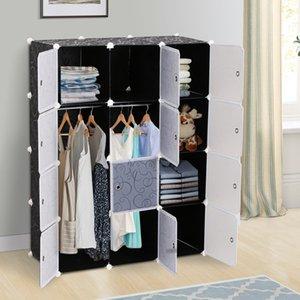 HOMCOM DIY Wardrobe Portable Interlocking Plastic Modular Closet Cube Organiser