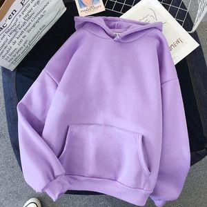 Women Fleece Hoodie Sweatshirts Winter Japanese Fashion 2020 oversize ladies pullovers warm pocket hooded Jacket