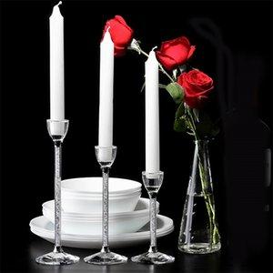 Hochzeit Kreative Party Kerzenhalter Personalisierte Hochzeit Mittelligenteile Glas Kristall Kerzenständer Wohnzimmer Home Decoration LJ201212