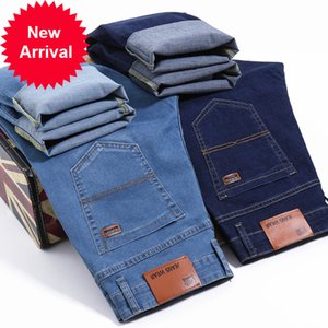 Brother Wang мужская деловая повседневная светло-голубая эластичная сила мода джинсовые джинсы брюки мужские брюки брюки