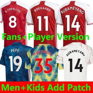 Thailandia 20 21 Maglie da calcio Arsenal 20 21 PEPE SAKA NICOLAS TIERNEY HENRY WILLIAN 2020 2021 maglie da calcio in jersey da calcio Set da uomo e bambino