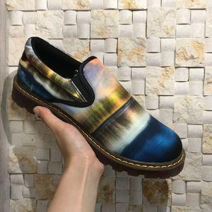 Männer Slip-onmüßiggänger Suede Moccasins Spring Summer Driving Schuhe Männlich Printed Bequeme Schuhe Licht Soft-Ebene-Schuh-Turnschuhe