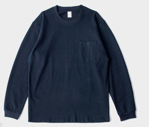 Loose matte two needle reinforced bottoming men's and women's long sleeve T-shirt for men and women