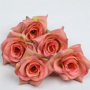 Yapay Çiçek Ipek Gül Başkanı Düğün Ev Dekorasyon DIY Çelenk Karalama Defteri Zanaat Sahte Gül Çiçek EEF3582