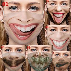 US Stock Designer Face Mask Personality Facial Expressions Funny Trade Masks Cross-Border Dustproof Cotton Masks Printed Masks Party Mask