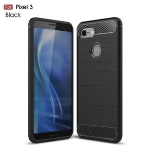 Carbon Fiber Case For Google Pixel 3 Case Rubber Bumper Silicon Carbon Fiber Cover For Pixel 3 tpu Soft Shockproof Silicone case
