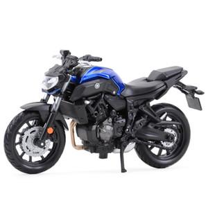 Maisto 1:18 Yamaha MT07 Morte estático Vehículos fundidos Collectibles Hobbies Motocicleta Modelo Juguetes Y1130