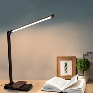 LED-Schreibtischlampen USB-Augenschutz-Tischlampe 5 dimperstabelle Niveau-Touch-Nachtlicht für Schlafzimmer Nachtlese Lampara EScritorio