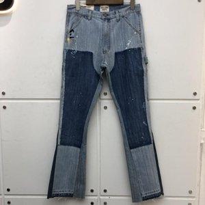 Galerie Slim-Fit Galerie Département Denim Pantalons Dommages causés Dégusté Jean Cowboy Jean Pantalons Hommes Baggy Jeans Hommes Vêtements