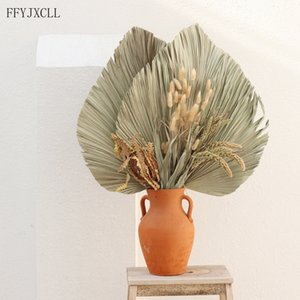 50cm Fan Dried Flower Palm Leaf Window Reception Party Art Wall Hanging Decoration Wedding Arch Arrangement Y1201