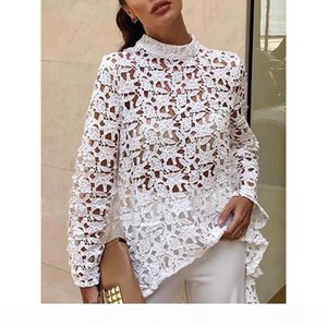 hot sales new women's lace embroidery dress European American holiday sand dress style white pink plus size clothing